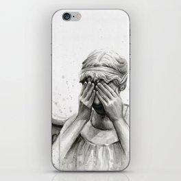 Weeping Angel Watercolor Painting iPhone Skin