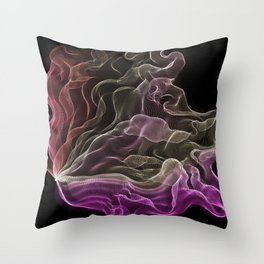 Pink-Coral Ombré Butterfly Wings -String Theory 7 Throw Pillow