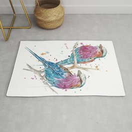 Lilac-Breasted Rollers Rug