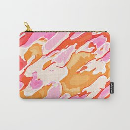 orange brown and pink camouflage graffiti painting abstract background Carry-All Pouch