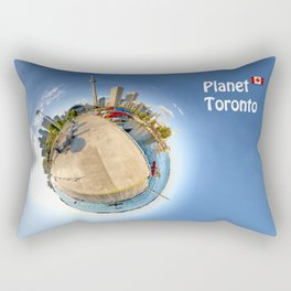 Planet Toronto Wall Paper Rectangular Pillow