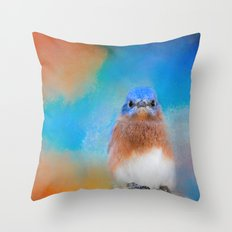 Blue Is Beautiful Throw Pillow