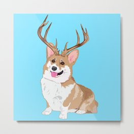 14 Point Penbroke Welsh Corgi Metal Print