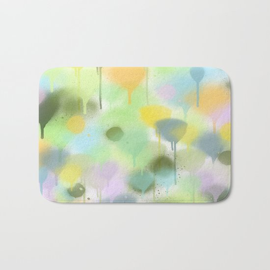 Dripping paint abstract in pastel colors Bath Mat