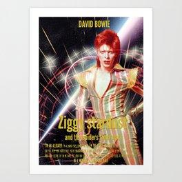 David Bowie - Ziggy stardust Art Print