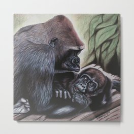 Sekani and Adelina Metal Print