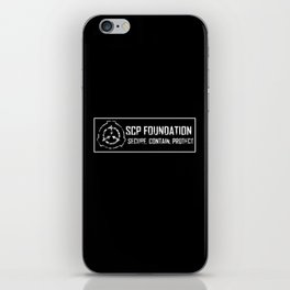 SCP Foundation: Secure Contain Protect iPhone Skin