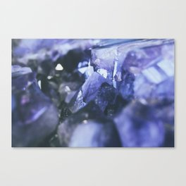 Purple amethyst Canvas Print