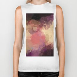 Modern Contemporary Ultra Violet Glow Abstract Biker Tank