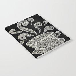 But first, Coffee - tea coffee lover zentangle Notebook