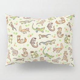 Spring geckos Pillow Sham