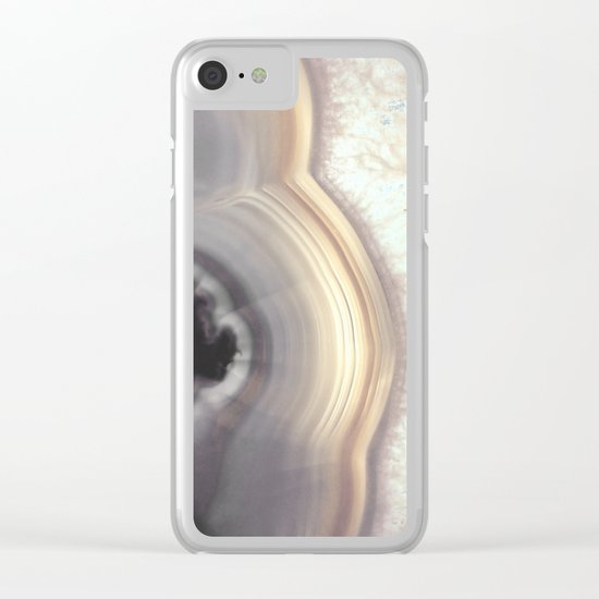 Taupe Agate Clear iPhone Case