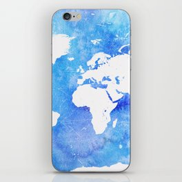 Worl map Ocean iPhone Skin