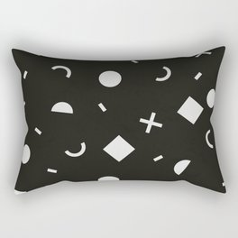 Black & White Memphis Pattern Rectangular Pillow