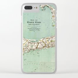 Cap Cod and Vicinity Map Clear iPhone Case