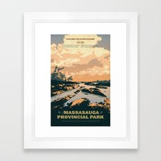 The Massasauga Park Poster Framed Art Print
