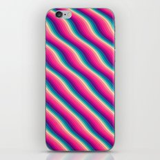 Abstract Color Burn Pattern - Geometric Lines / Optical Illusion in Rainbow Acid Colors iPhone & iPod Skin