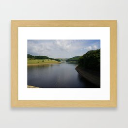 Derwent reservoir Framed Art Print