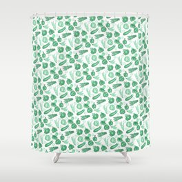 Eat Your Greens Shower Curtain