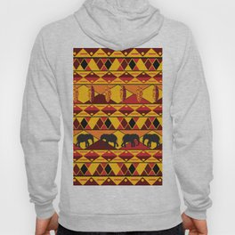 African Tribal Pattern No. 34 Hoody