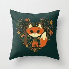 Foxy Heart Throw Pillow