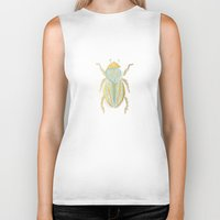 beetle Biker Tanks featuring Beetle by Very Sarie