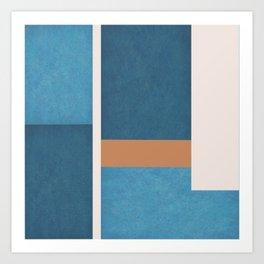 Intercepts, Geometric Forms Shapes Art Print