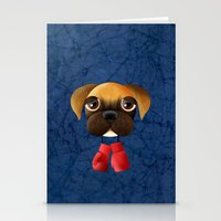 boxer Stationery Cards featuring Boxer by Sloe Illustrations