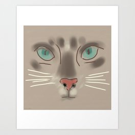 Piloucha, the Kitten Art Print