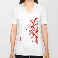naruto V-neck T-shirts featuring Naruto by offbeatzombie