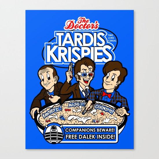 Tardis Krispies Canvas Print