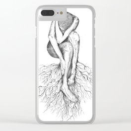 Uprooted Clear iPhone Case