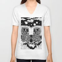 universe V-neck T-shirts featuring UNIVERSE by • PASXALY •