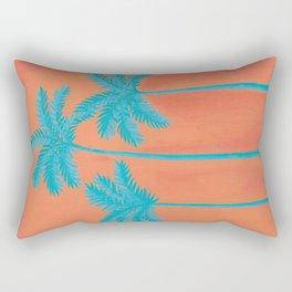 Turquoise Palms Rectangular Pillow