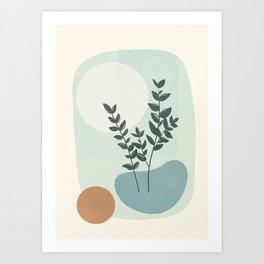 Azzurro Shapes No.51 Art Print