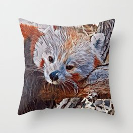 Impressive Animal - red Panda 3 Throw Pillow