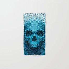 Pixel skull Hand & Bath Towel