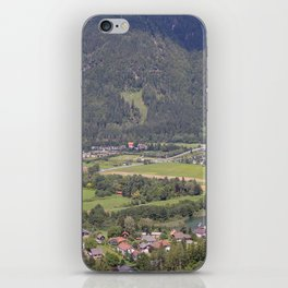 Village in a beautiful mountain valley. iPhone Skin