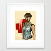 sam smith Framed Art Prints featuring Sam by Kai Christie