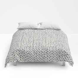 Hand Knit Grey Comforters