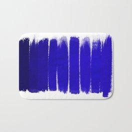 Shel - abstract painting painterly brushstrokes indigo blue bright happy paint abstract minimal mode Bath Mat