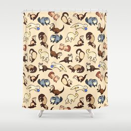 Ferrets in cream Shower Curtain