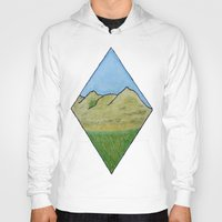 scotland Hoodies featuring Hills of Scotland by Hayley Lang