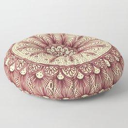 mandala: maroon Floor Pillow
