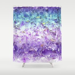 Alexandrite crystal rough cut Shower Curtain