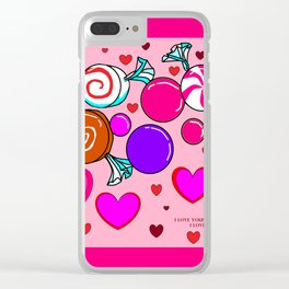 Happy Happy Hearts and Sweets Clear iPhone Case