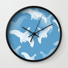 White Birds Against The Blue Sky #decor #society6 #homedecor Wall Clock