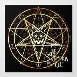 Cult of the Great Pumpkin: Pentagram Canvas Print