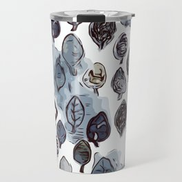 Wax Leaves-Gray Travel Mug