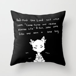 hey man this joke is really cool, listen... Throw Pillow